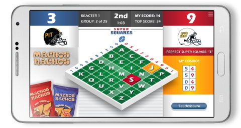 Super Squares® Classics supports classic football games in real time. IMAGE BY: React, LLC