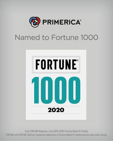 Primerica debuts on the Fortune 1000 (Graphic: Business Wire)