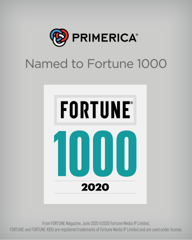 Primerica debuts on the Fortune 1000 (Graphic: Business Wire)