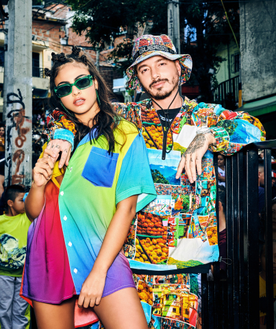 GUESS?, Inc. Announces GUESS x J Balvin 'Colores' Capsule Collection June 19th, 2020 Launch Date (Photo: Business Wire)