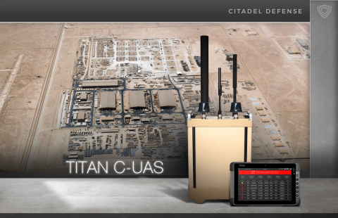Citadel Defense's Titan system prevents group I and II unmanned system threats from entering a protected airspace. (Photo: Business Wire)