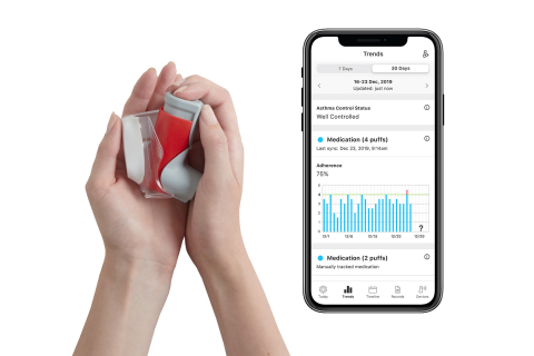The Propeller sensor for Symbicort connects to the Propeller app to deliver insights on medication use  (Photo: Business Wire)