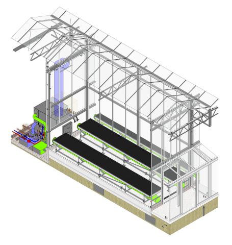 Uno de los 63 compartimentos del invernadero Serre Red (cortesía de Bosman Van Zaal)