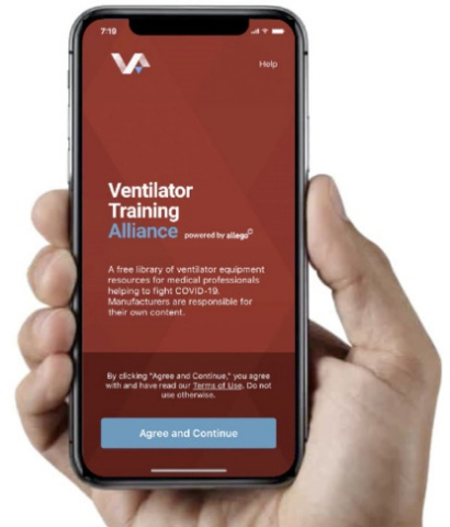 Приложение Ventilator Training Alliance (Фото: Business Wire)