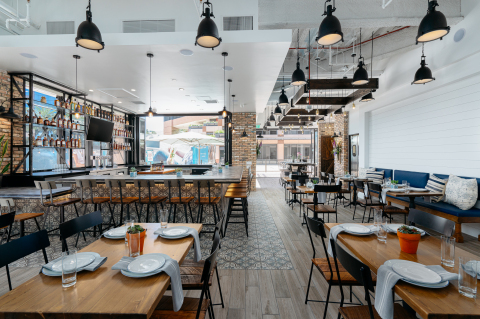 Interior of the newly built out Porch & Swing, a progressive American eatery located at Centerview at the Irvine Concourse. Now open for takeout and delivery. (Photo: Business Wire)