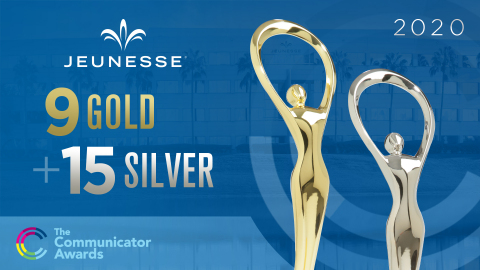 Jeunesse Receives 24 Awards in 2020 Communicator Competition. (Photo: Business Wire)