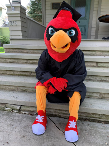 OHVA Mascot, Cardy, is ready for Graduation! (Photo: Business Wire)