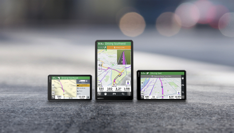 The Garmin dēzl OTR700/800/1000 offer over-the-road truckers more navigation options than ever before. (Photo: Business Wire)