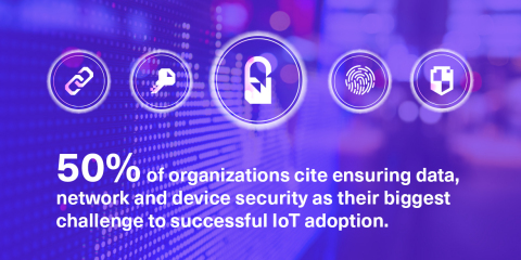 Security is viewed as a major concern for enterprises' IoT integration. (Graphic: Business Wire)