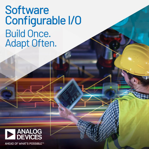 Analog Devices Announces Industry's First Software Configurable Industrial I/O for Building Control and Industrial Automation (Photo: Business Wire)