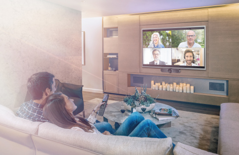 Crestron HomeTime streamlines a premier UC solution for the home office, remote teaching or learning, and of course, long distance socializing. (Photo: Business Wire)