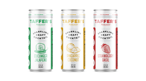 Taffer's Mixologist Line of Hard Seltzers Now Available to Purchase Online For Home Delivery (Photo: Business Wire)
