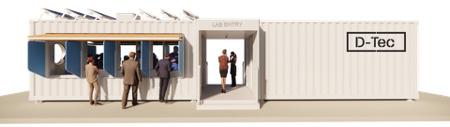 Example of a modular shipping container repurposed as walk-in medical clinic (Photo: Business Wire)