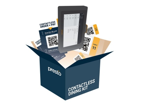 Presto's Contactless Dining Kit offers powerful contactless menu display, ordering, and payment technology solutions. (Photo: Business Wire)