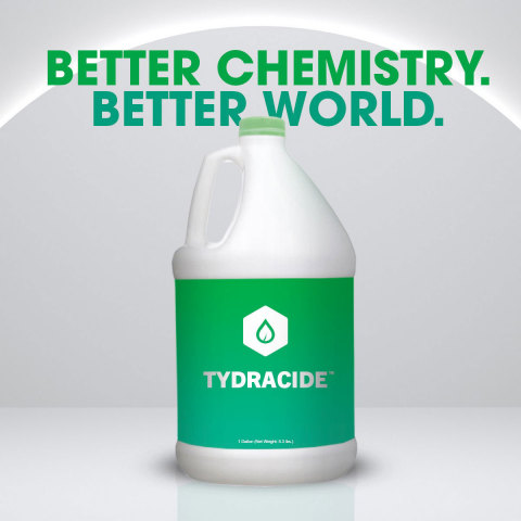 Tydracide™ Testing Shows Greater Than 99.999% Kill Rate on COVID-19 Virus in One Minute (Photo: Business Wire)