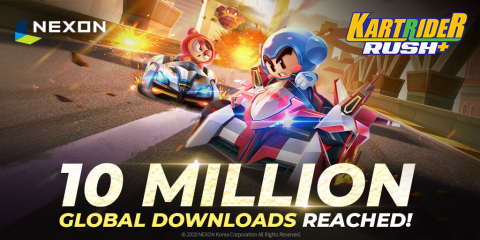 KartRider Rush+ 10 Million Global Downloads (Graphic: Business Wire)