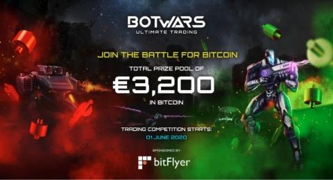 bitFlyer Europe et Quazard s'associent pour lancer la toute première compétition de trading de crypto-monnaies avec Botwars Ultimate Trading (Graphic: Business Wire)