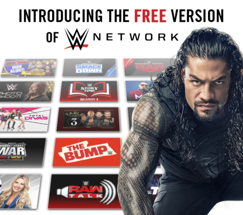 WWE® INTRODUCES THE NEW FREE VERSION OF WWE® NETWORK (Graphic: Business Wire)