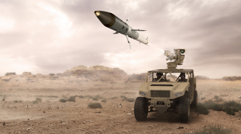 BAE Systems successfully completed test fires of its APKWS® laser-guided rockets from a ground-based weapon system. (Photo: BAE Systems)