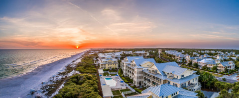 The WaterColor community is situated along the white-sand beaches of the Gulf of Mexico (Photo: Business Wire)