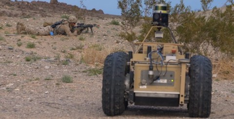 DARPA's Squad X Experimentation program aims to demonstrate a warfighting force with artificial intelligence as a true partner. Photo courtesy of DARPA.