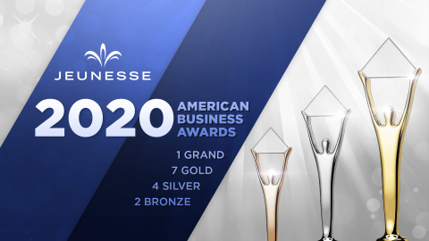 Jeunesse® has been honored with 14 awards in the 2020 American Business Awards competition. (Graphic: Business Wire)