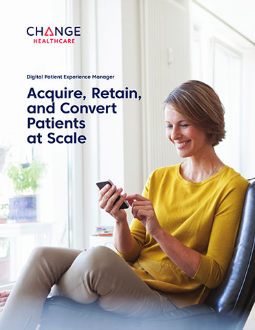 Change Healthcare's Digital Patient Experience Manager replaces disjoined touchpoints with a deliberately structured, holistic patient experience.