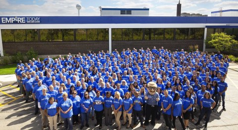 Empire Today team honored to receive Stevie Awards for company excellence. (Photo: Business Wire)