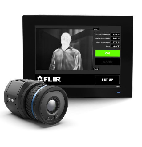 FLIR Systems has installed its EST screening system at the Pentagon Visitor Center in Washington, D.C. The company's integrated screening solution features the FLIR A700 thermal imaging camera and is being used to screen visitors for elevated or higher than expected skin temperatures, which can help guard against the spread of COVID-19. (Photo: Business Wire)
