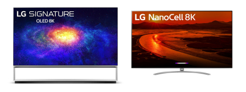 2020 8K LG OLED ZX and 8K LG NanoCell NANO 99 TVs (Graphic: Business Wire)