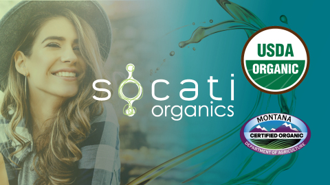Socati Receives Coveted USDA Organic Certification  (Photo: Business Wire)