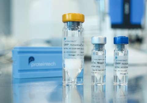 Proteintech's HumanKine® Human cell-expressed cytokines and growth factors are now available in GMP-compliant versions for use in clinical trials and commercial manufacturing (Photo: Business Wire)