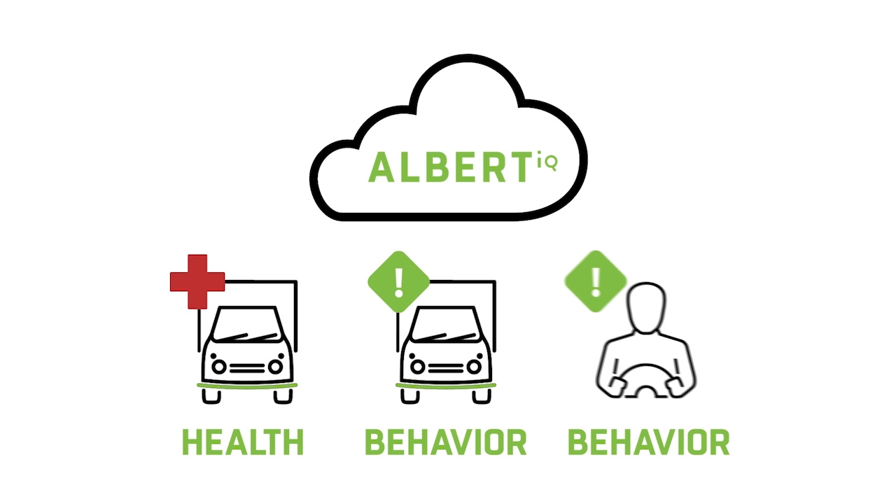 Albert (IQ) uses the latest serverless technologies to merge telematics data with the expertise of our ASE-certified maintenance team to provide you with a prioritized list of mechanical issues and open recalls that need attention.