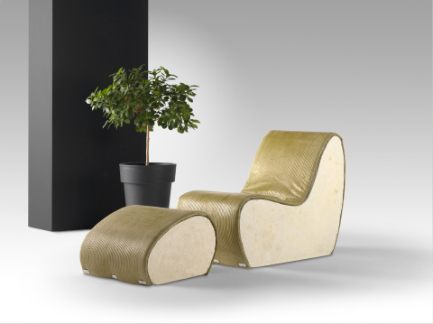 "Worth Partnership Project_""Lucid"", organic chair ""nourished"" to reach desired shape (Photo: WORTH Partnership Project)"