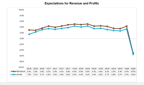Profit and Revenue Expectations for next 12 months (Graphic: Business Wire)