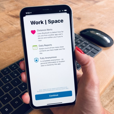 Return to work safely with the new Work | Space app (Photo: Business Wire)