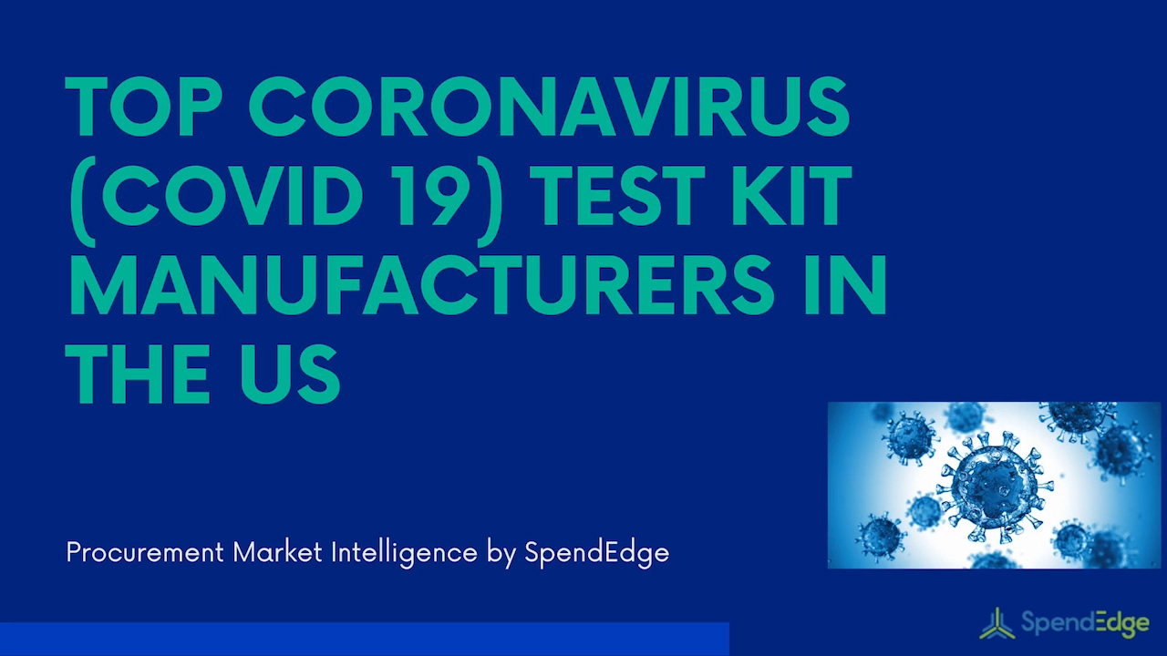 Identifying the top Coronavirus (COVID 19) test kit manufacturers in the US.