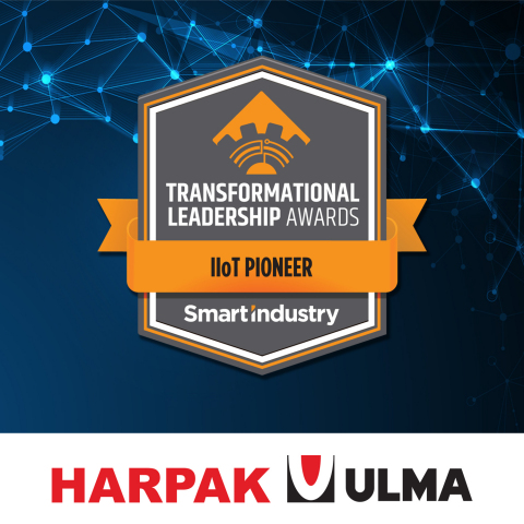 Harpak-ULMA has been named as one of Putman Media's first annual Smart Industry Transformational Leadership Award winners in the category of OEM IIoT Pioneer. (Graphic: Business Wire)