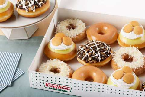 Available now for a limited time, the collection features doughnut versions of dessert classics: Banana Pudding, Coconut Cake and Mississippi Mud Pie (Photo: Business Wire)