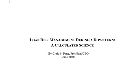 Loan Risk Management During a Downturn: A Calculated Science