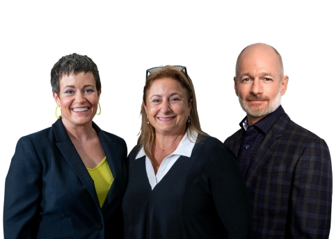 Valor general partners, L to R, Lisa Calhoun, Robin Bienfait and Gary Peat (Photo: Business Wire)