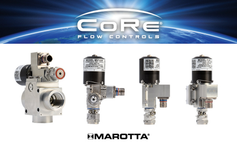 Marotta Controls introduces four new solenoid valves to its CoRe® Flow Controls series for the commercial space industry. (Photo: Business Wire)