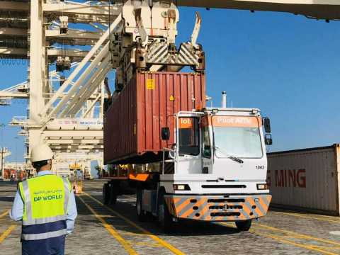 DP World, Autonomous Internal Terminal Vehicles (AITVs) (Photo: AETOSWire)