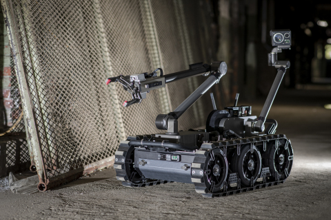 U.S. military explosive ordnance disposal (EOD) teams will use the FLIR Centaur™ ground robot to help disarm improvised explosive devices, unexploded ordnance, and perform similar hazardous tasks. Operators can quickly attach different sensors and payloads to the advanced 160-pound robot to support other functions, including chemical, biological, radiological and nuclear (CBRN) missions. (Photo: Business Wire)