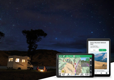 Get lost in the moments, not the route. Introducing the new RV 890 GPS navigator from Garmin. (Photo: Business Wire)