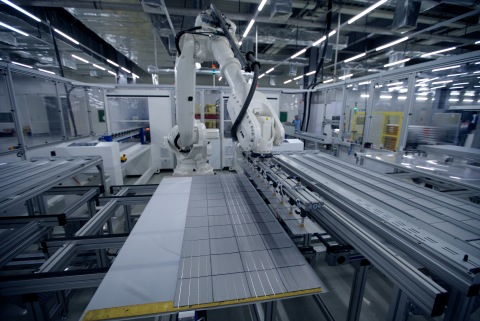 Adani's current 1.3 GW solar module fab, to expand to 3 GW (Photo: Business Wire)