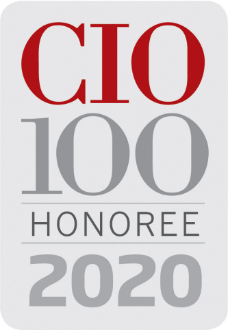 Power management company Eaton has been named a recipient of IDG's 2020 CIO 100 award. (Graphic: Business Wire)