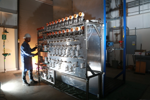 Feed control system for EcoCatalytic's new ethylene process pilot unit at Southwest Research Institute (Photo: Business Wire)