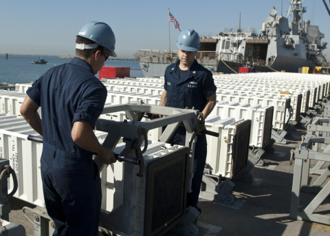 Vertical Launching System canisters serve in a multifaceted role as containers for missile shipping and storage as well as launch tubes. They also provide identification and firing support to multiple missile types. (Photo: BAE Systems)