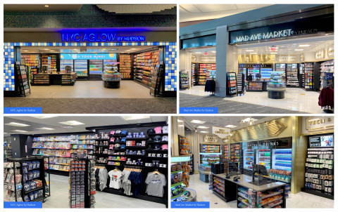 """Hudson's New Stores at LaGuardia Airport Terminal B: """"NYC Aglow by Hudson"""" and """"Mad Ave Market by Hudson"""" (Photo: Business Wire)"""